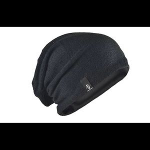 New Black Knit Slouch Beanie